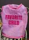 """Favorite Child"" PamperMe Dog Pink Tank TShirt Shirt Tee Costume Clothes Apparel"