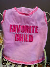 """""""Favorite Child"""" PamperMe Dog Pink Tank TShirt Shirt Tee Costume Clothes Apparel"""