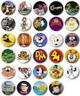 "Kids Retro TV Various 25mm, 1"" Button Badge, C to F,Clangers,Duckula,Dangermouse"