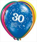 "Balloons 11"" 30th Birthday   Assorted  Qualitex"