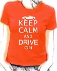 'Keep Calm and Drive on' MGB Roadster lady fit t-shirt