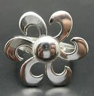 STERLING SILVER RING SOLID 925 PLAIN FLOWER NEW SIZE A - Z EMPRESS