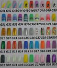 50 Different Glitter Styles False French Acrylic Gel Nail Art Tips Series 001