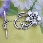 Alloy Metal Leaf Flower Jewelry Toggle Clasp