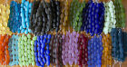 1 Strand of Frosted Matte Nugget Beach Sea Glass Beads You Pick The Color!