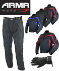 ARMR MOTO MEDIUM JACKET TROUSERS GLOVES DEAL - WATERPROOF MOTORBIKE MOTORCYCLE