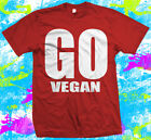 Go Vegan - T Shirt - High Quality dispatched fast