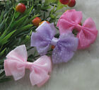 20pcs Organza Ribbon Flowers Bows with Mini Dots DIY/Wedding/Applique Craft A929