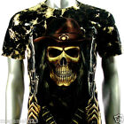 Rock Eagle T-Shirt Sz M L XL Biker Skull Cowboy Tattoo Gangster Heavy Metal Re44