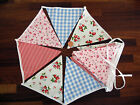 BUNTING - 5 metres Single/Double Sided Vintage style Summer party Cotton Bunting