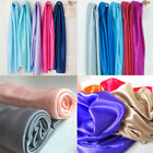 4YARDS SHINY STRETCH SATIN BRIDAL FABRIC WEDDING TABLECLOTH DRESS DRAPERY STUDIO