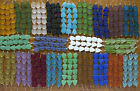 Small Flat Freeform Frosted Matte Beach Sea Glass Beads You Pick The 22 Colors!