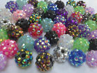 10pcs AB Resin Acrylic Rhinestone DISCO Ball Beads for Shamballa Bracelet Making