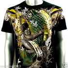 Artful Couture T-Shirt Sz M L XL XXL Tattoo Koi Fish Japanese Indie Graffiti AB9