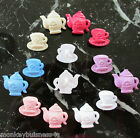 4 - Novelty Buttons - Tea Pot & Cup - Baby/Kid's Clothing - Knitting/Sewing