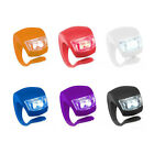 New Silicone Bike Bicycle Rear Wheel Double LED Flash Light