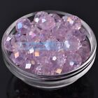 20pcs 14mm Briolette Faceted Crystal Glass 5040# Rondelle Loose Spacer Beads