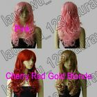 24 in. Long All Color Hair Curly Cosplay Wig Free Shipping 83