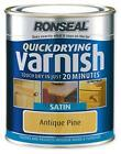 NEW 0.75L QUICK DRYING VARNISH PROTECTS AGAINST KNOCKS SCUFFS & SCRATCHES