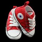 CONVERSE ALL STAR INFANT BABY RED HI TOPS PRAM SHOES BOY GIRL TRAINERS BNIB