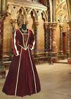 Medieval Renaissance Tudor Style Dress Gown Handmade from Brocade and Velvet