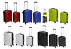 Hard Shell Suitcase with 4 Spinner Wheels in High Gloss Black or Silver