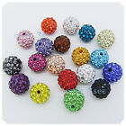 5 pcs 10 pcs 20pcs 10mm Swarovski Crystal Pave Disco Ball Spacer Charm Beads E01