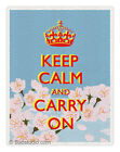 Keep calm and carry on / Cherry Blossom - Pop Art print LIMITED EDITION