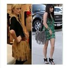 4 Colors Women Celebrity Fringe Tassel Shoulder Messenger Bag Handbag Vintage
