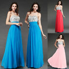 Wedding Bridesmaid Prom Gowns Evening Ball Cocktail Long Dress Stock Size 0-10