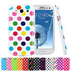Polka Dots Soft Silicone Case Cover For Samsung Galaxy S3 I9300+Screen Protector