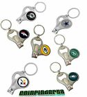 NFL 3-in-1 Keychain Bottle Opener Nail Clipper - Pick Team
