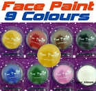 FACE BODY PAINT 10g With Free Sponge Make Up Halloween Fancy Dress