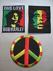 Bob Marley One Love Rasta Colours CND Peace Embroidered Iron-On Patch *Choose*