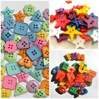 Fun Bold Bright Button Shapes ABC * STARS * HEARTS * 30g Mixed Bags Stash Boost!