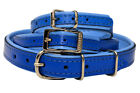Real SOFT LEATHER DOG Puppy COLLAR COLOUR PADDED Handmade
