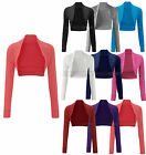 Ladies Beaded Shrug Bolero Top 4 Colours S/M-M/L