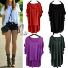 Celeb Style Batwing Sleeve Slouchy Loose Uneven Hem Top Shirt Free Size T088