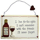 Retro Vintage Style Novelty Funny Wall Sign Plaque - Birthday Christmas Gifts