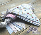 10-40ft (3-12m) JILPI FABRIC BUNTING, RED WHITE BLUE PINK PURPLE GREEN, NEW!