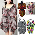 Celeb Style Sexy Batwing Sleeve Soft Loose Long Top/ Mini Dress OverSize dr136
