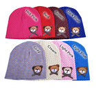 Cute Baby Toddler Boys and Girls Beanie Winter Hats with Dots and Teddybear