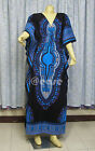 Cotton Sexy V-Neck Dashiki Kaftan  Maxi Dress US14-18/UK16-20