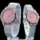 Special Dial Stainless Steel Mens Womens Couple Lover Quartz Wrist Watch Watches