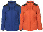 New Ladies Womens Funnel Neck Quilted WarmWinter Waterproof Jacket Coat Size8-14