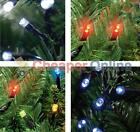 100 Outdoor Static LED Christmas Lights in Red, White, Blue or Multi Coloured