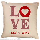 Love Cushion Red | Gift | Personalised | Wedding | Valentines | Keepsake