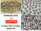100 Stainless Steel STUDS, Rock, Leather, Bag, Shoe CRAFT Biker DIY Fashion Goth