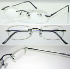L60 Superb Quality Rimless Reading glasses & Classic Style Design & Spring Hinge