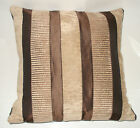 "1 CUSHION COVER-brown chocolate taipei chenille stripe 12"",14""16,18"",20"" 22"" 24"